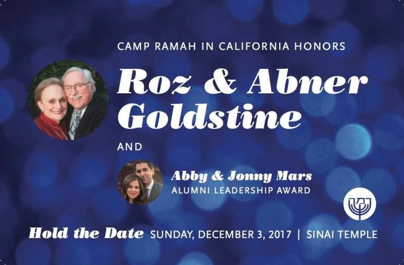 Camp Ramah in California Honors Roz & Abner Goldstine