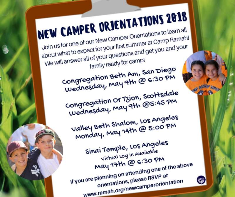 New Camper Orientation: Congregation Beth Am, San Diego